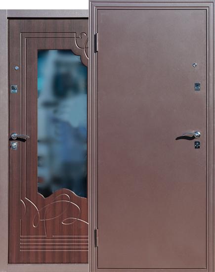 дверь входная железная с зеркалом